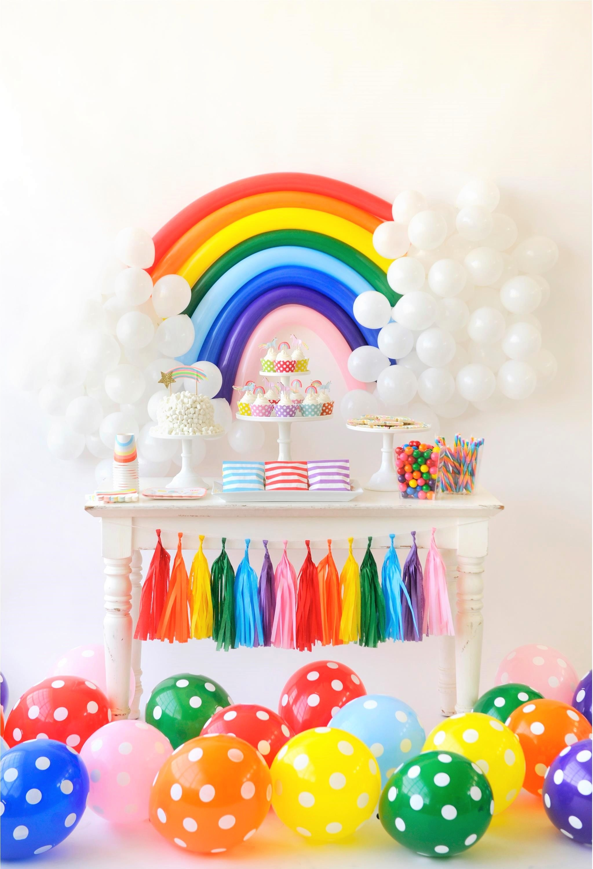 Kids birthday party decoration ideas over the rainbow birthday party for kids project nursery